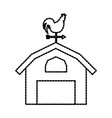 agriculture farm house building weather vane with vector image