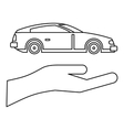 Car Insurance concept icon outline style vector image