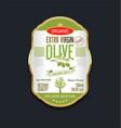 olive oil retro vintage background label vector image