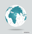 Puzzle globe vector image