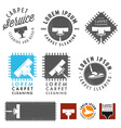 Set of retro carpet cleaning labels and emblems vector image