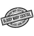 Bloody Mary Cocktail rubber stamp vector image