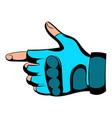 gloves icon cartoon vector image