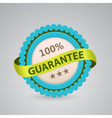 single label of 100 guarantee vector image