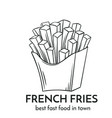 hand drawn french fries icon vector image