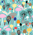 pattern of colorful mushrooms vector image vector image