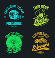 t shirt design set vector image vector image