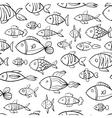 Hand drawn fish pattern vector image