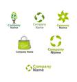 Eco Logos set vector image vector image