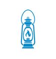Antique Old Kerosene Lamp vector image