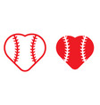 baseball love vector image