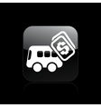 bus pay icon vector image