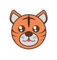 cute tiger face kawaii style vector image