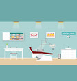 dental care clinic or dentist office interior vector image