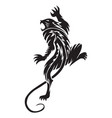 panther tattoo vintage engraving vector image