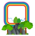 rainbow frame over the mountain vector image