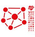 social graph icon with love bonus vector image
