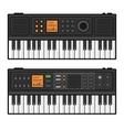 Piano Roll Digital Synthesizer Midi Keyboard Set vector image