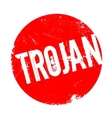 Trojan rubber stamp vector image