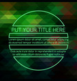 green forest futuristic template vector image