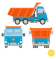 cartoon transport dump truck vector image
