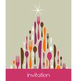 Christmas Tree Cutlery Made vector image