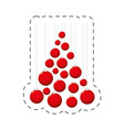 red balls christmas decoration vector image