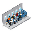 aircraft interior isometric view vector image