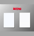 notepad set realistic empty notepad template open vector image