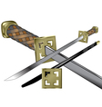 samurai weapon vector image
