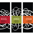 scroll banners vector image vector image