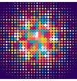 Disco background with halftone dots in retro style vector image