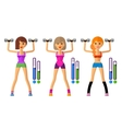 fitness logo design template sport vector image
