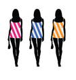 girls in beauty dress color vector image