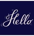 Hello Lettering Black vector image