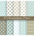 Pattern papers for scrapbook tiling vector image