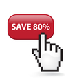 Save 80 Button vector image