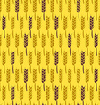 Seamless Pattern with Wheat Harvest Autumn vector image