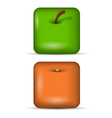 set 1 of app icons fruits vector image