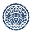 the god of the sea concept shaped int vector image