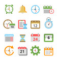 time management symbols calendars reminders vector image