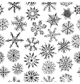 Many different shapes of snowflakes Drawn by hand vector image vector image