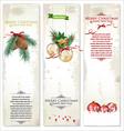 Set of three Christmas banners vector image
