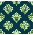 Seamless damask lush flowers pattern in green vector image vector image
