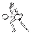 The athlete playing tennis vector image
