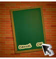 Brickwall chalkboard vector image