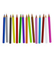 colored pencil set isolated vector image
