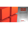 cube layout red vector image