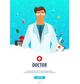 doctor medical poster health care vector image