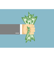 Dollar trapped in a fist Businessman hand vector image